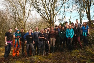 Rixton Claypits Group Photo Feb 2018